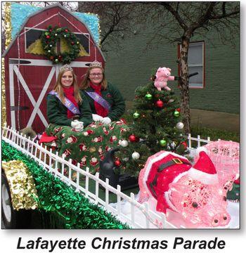 ... Lafayette Christmas Parade - Courtney Gulick - Samantha Pigg