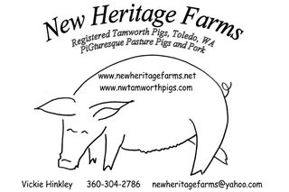 New Heritage Farms Registered Tamworths — Toledo, Washington